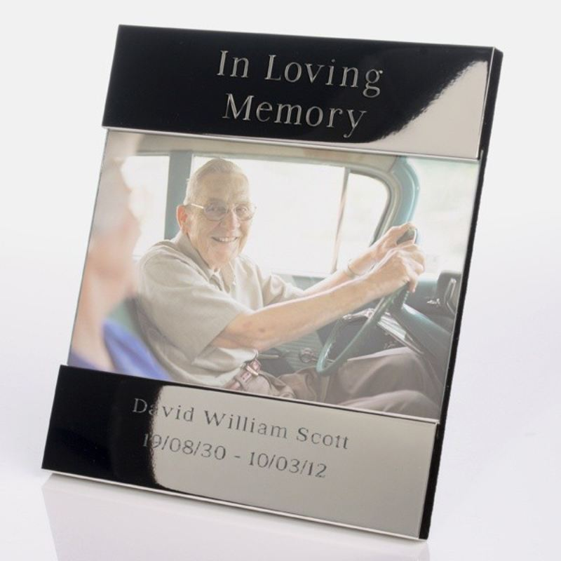 In Loving Memory Shiny Silver Frame product image