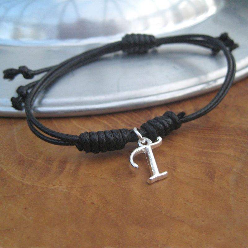 Personalised Cord Bracelet - Initial product image