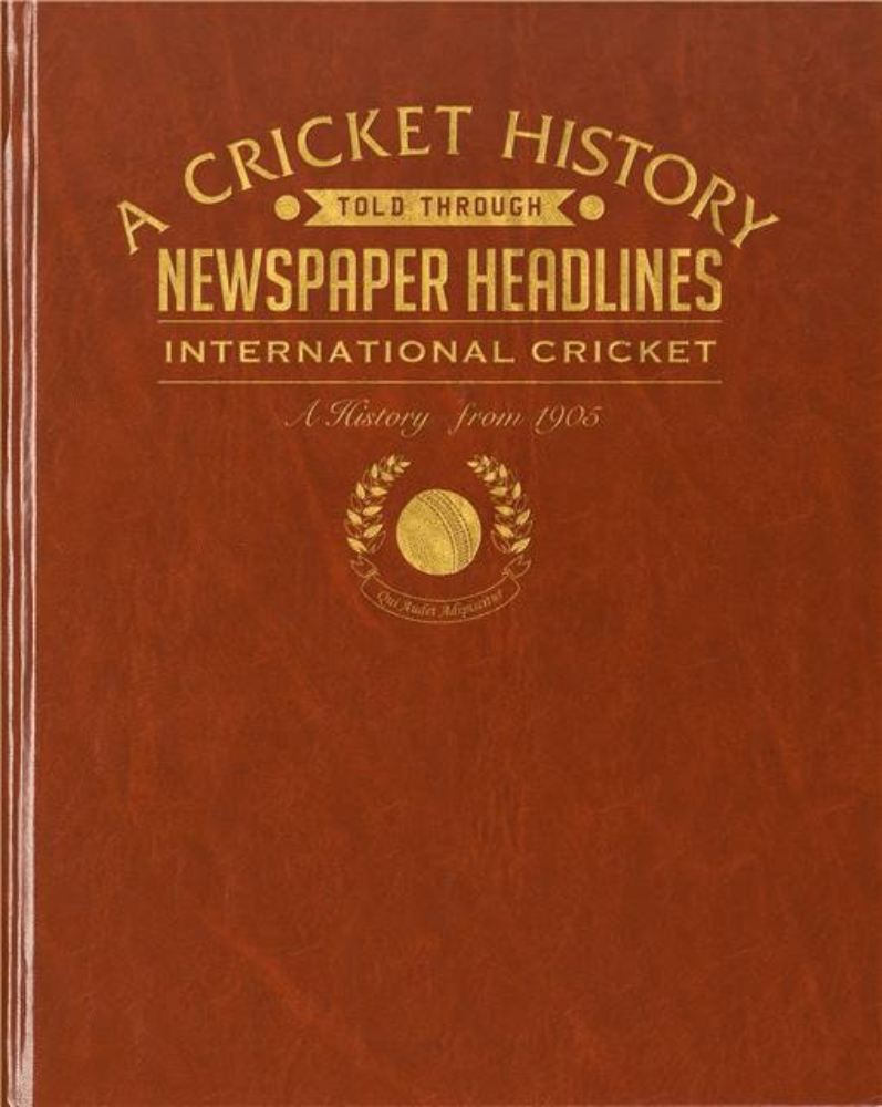International Cricket Newspaper Book product image