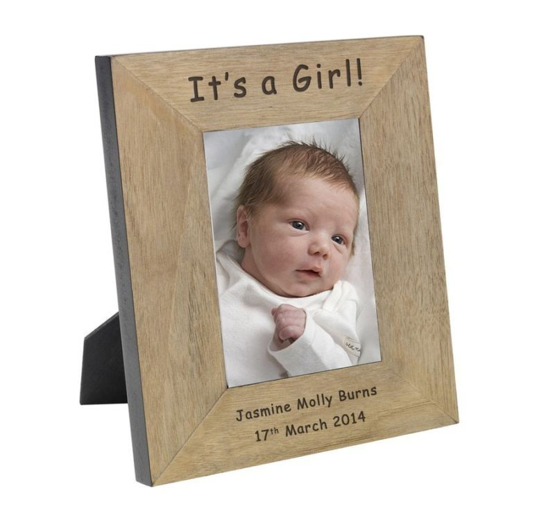 It's a Girl! Wood Frame 6 x 4 product image
