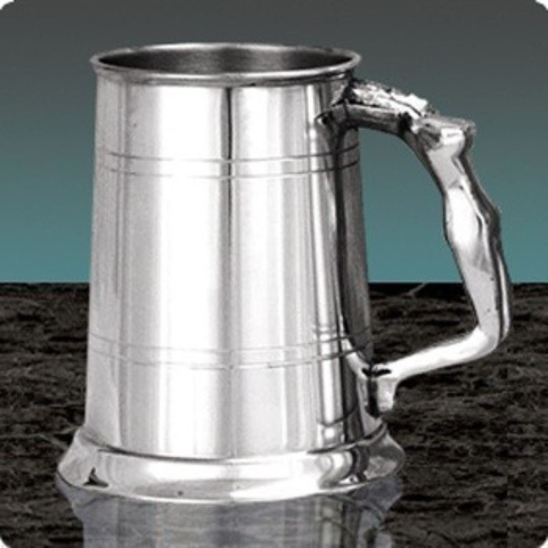 Lady Handle Engraved Pewter Tankard product image