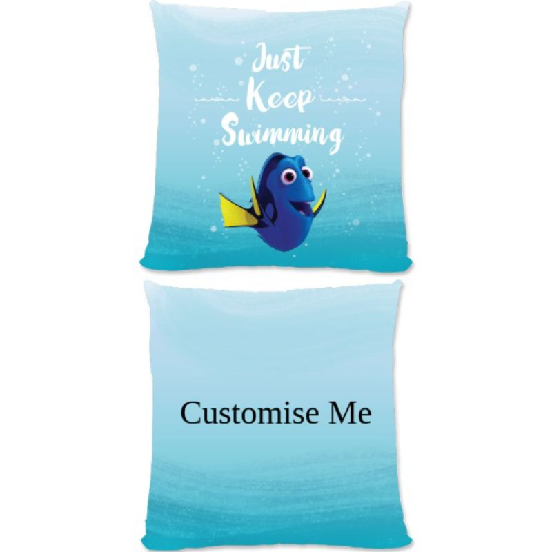 Personalised Disney Finding Dory 'Just Keep Swimming' Large Cushion product image