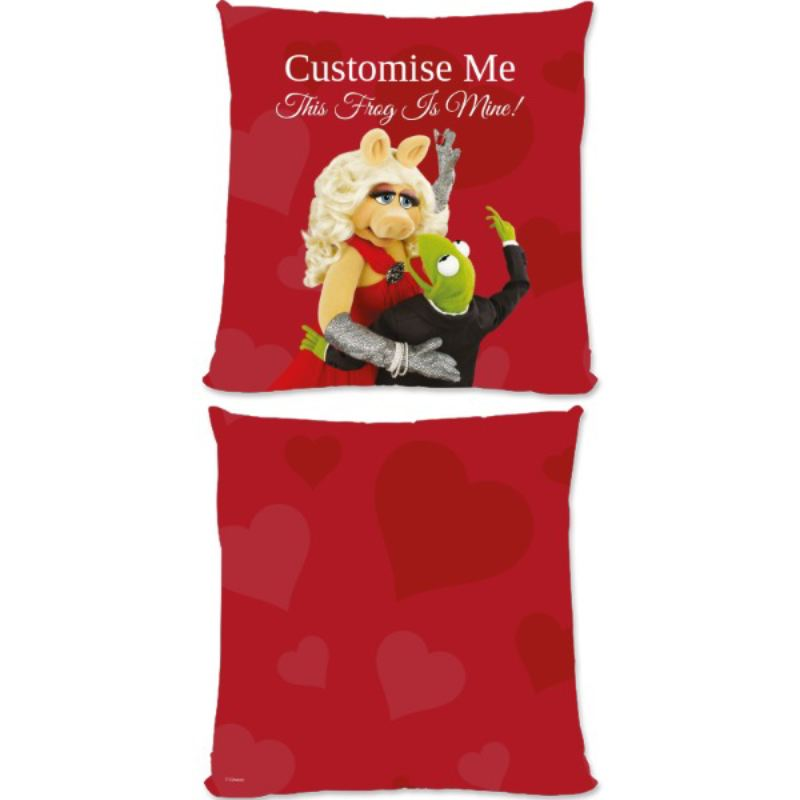 Personalised Disney The Muppets Kermit And Miss Piggy This Frog Is Mine Large Cushion product image
