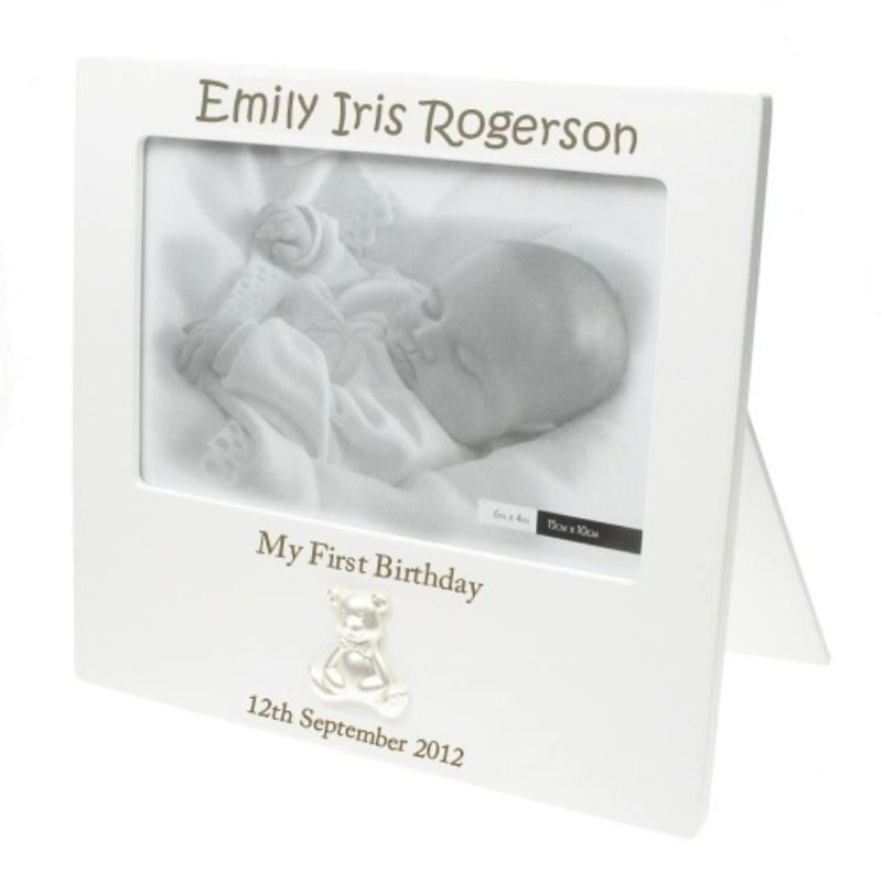 Laser Engraved 1st Birthday Frame product image