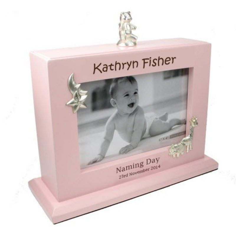Laser Engraved Naming Day MDF Photo Album: Girl product image