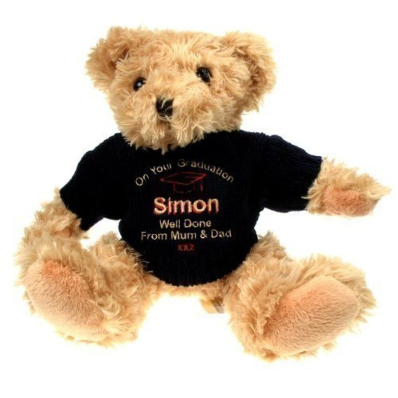 Light Brown Graduation Teddy Bear: Blue Jumper product image