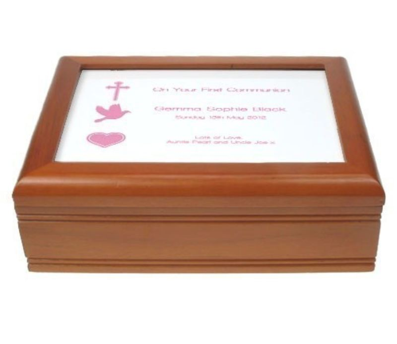 Lilac First Holy Communion Jewellery Box product image
