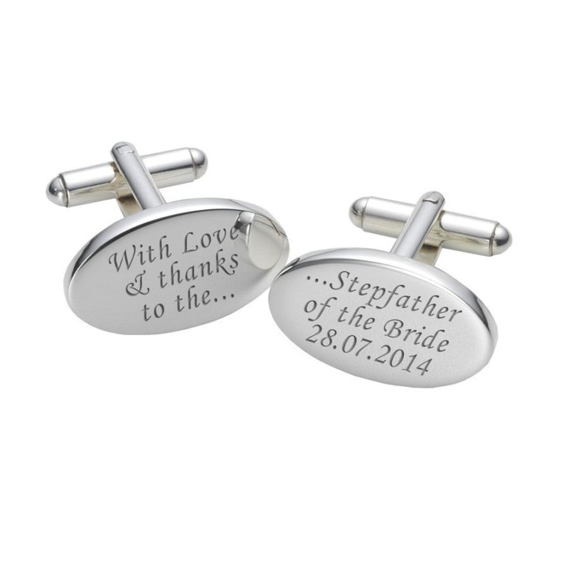 Love & Thanks Stepfather of the Bride Cufflinks product image