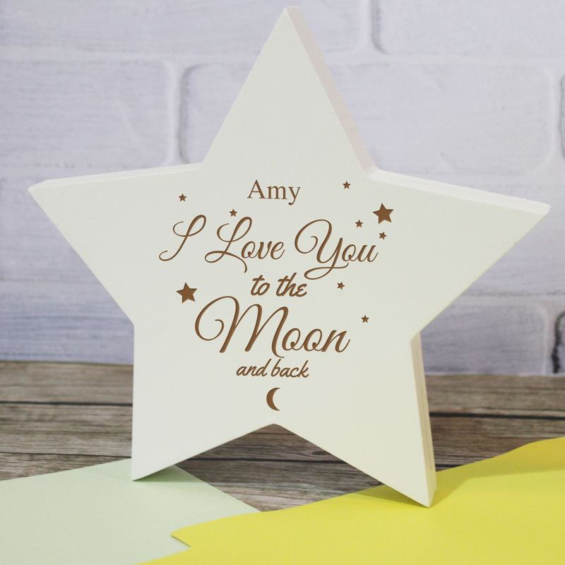 To The Moon and Back Star Plaque product image