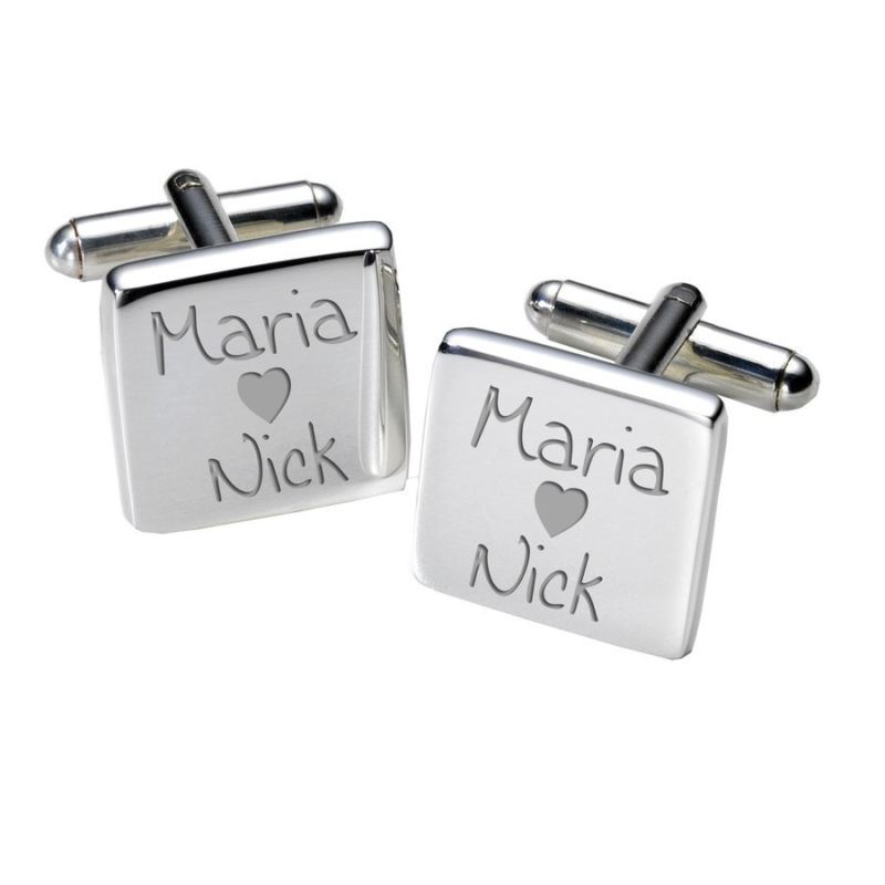 Loving Couples Cufflinks - Square product image