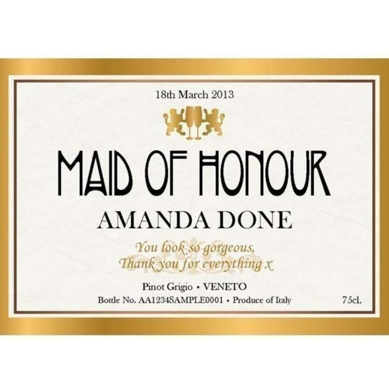 Maid of Honour Personalised Wine product image