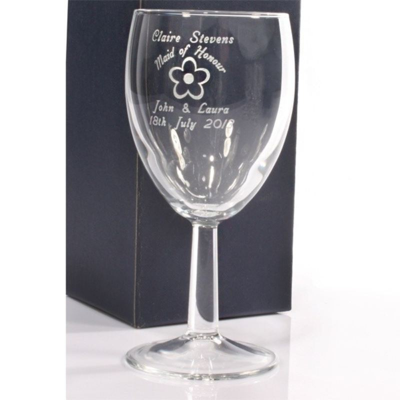 Maid of Honour Personalised Wine Glass product image