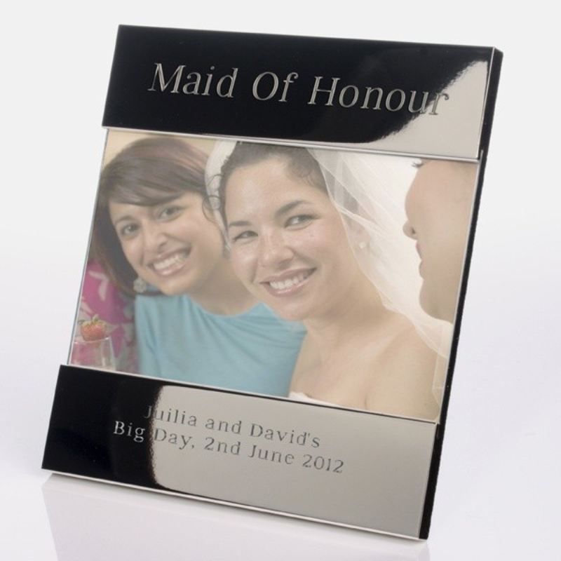 Maid Of Honour Shiny Silver Photo Frame product image