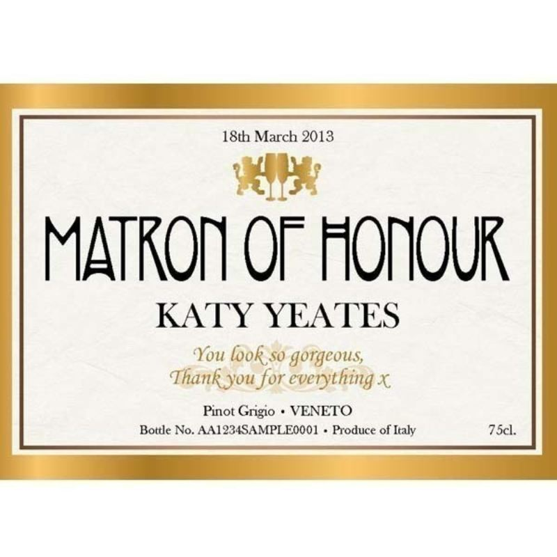 Matron of Honour Personalised Wine product image