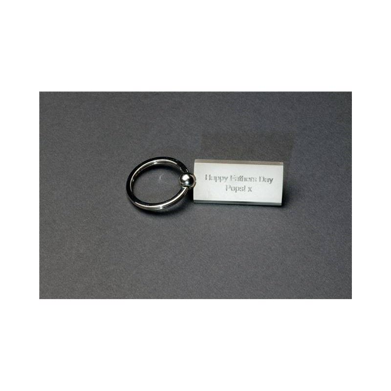 Matt Rectangular Keyring product image