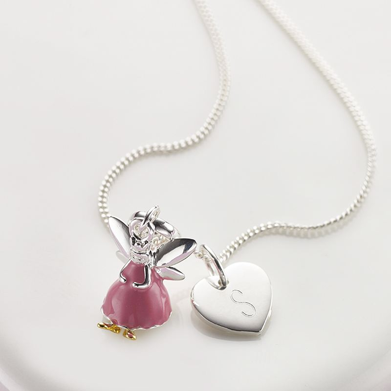 Personalised Pink Fairy Wish Necklace - Molly Brown Collection product image