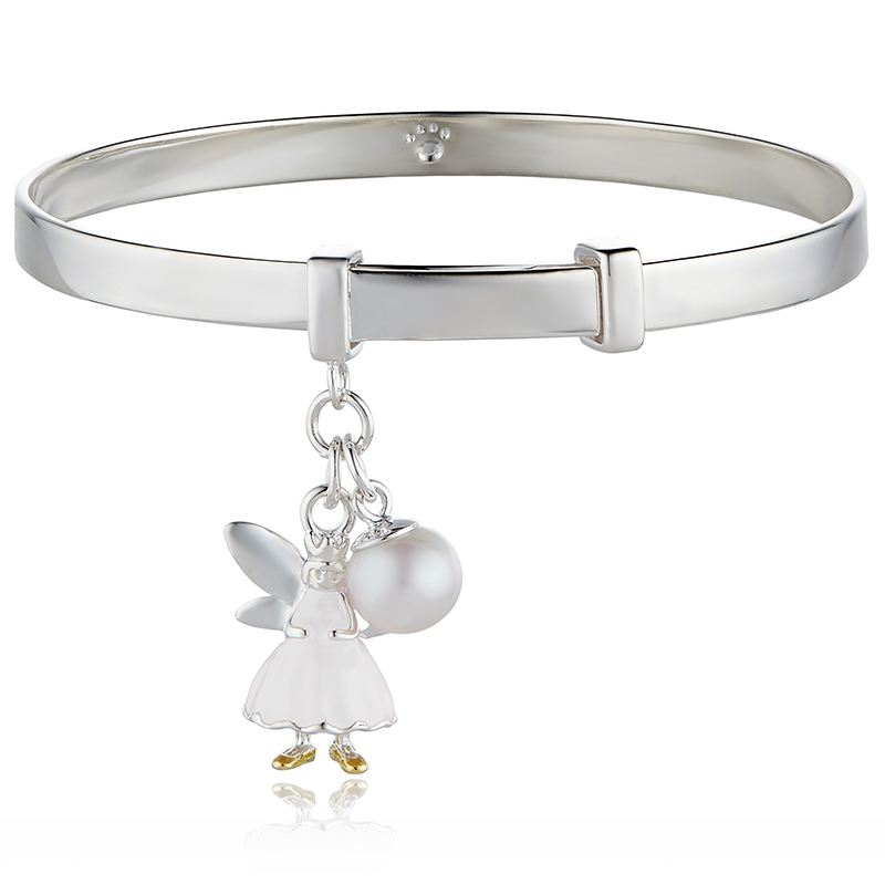 Personalised White Fairy Wish Bangle - Molly Brown Collection product image
