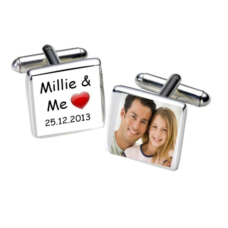 ...& Me Personalised Photo Cufflinks - Square product image