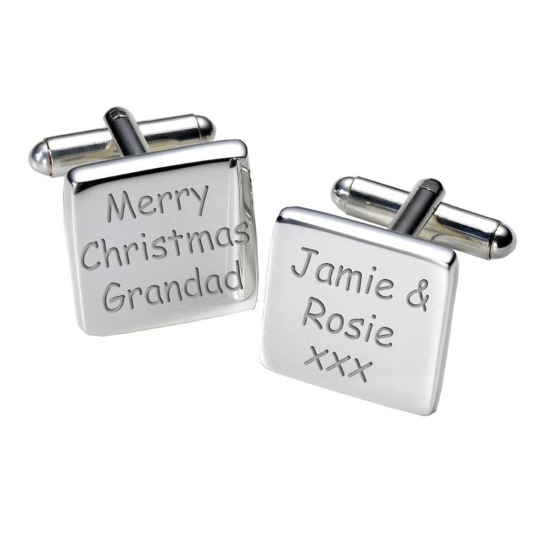 Merry Christmas Grandad Cufflinks - Square product image