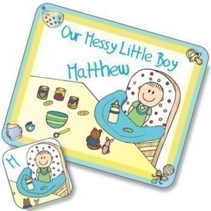Messy Boy Design Placemat and Coaster Set product image