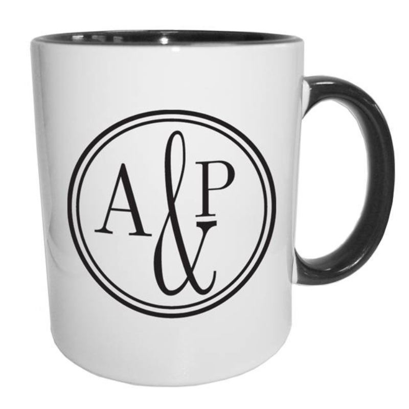 Monogram Circle Black Sub Mug product image