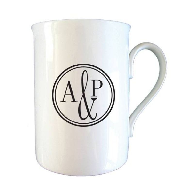 Monogram Circle Bone China Mug product image