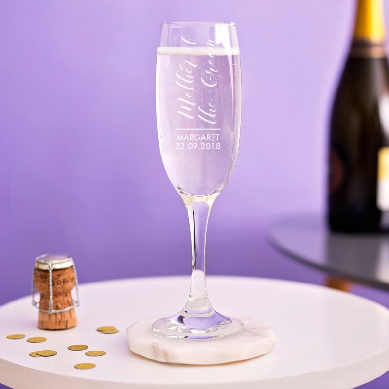 Personalised Mother Of The Groom Prosecco Glass product image