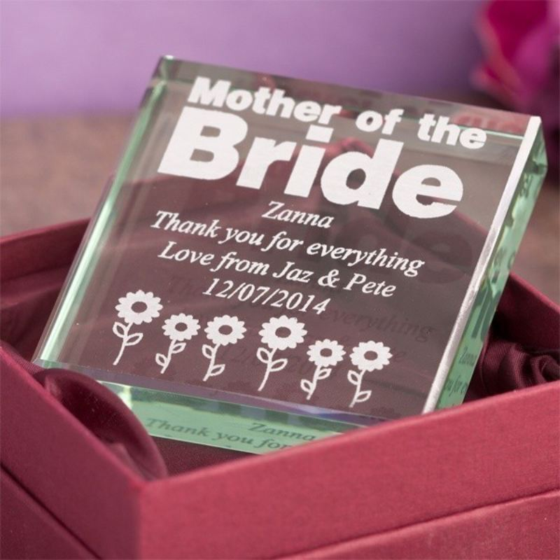 Mother of the Bride Glass Keepsake product image