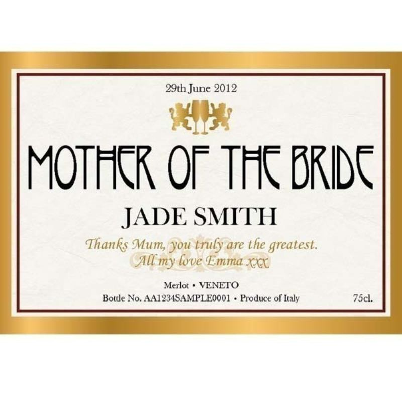 Mother of the Bride Personalised Wine product image