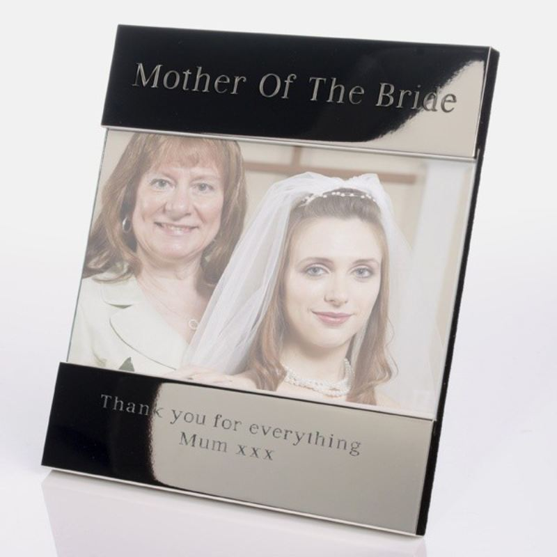 Mother of the Bride Shiny Silver Photo Frame product image