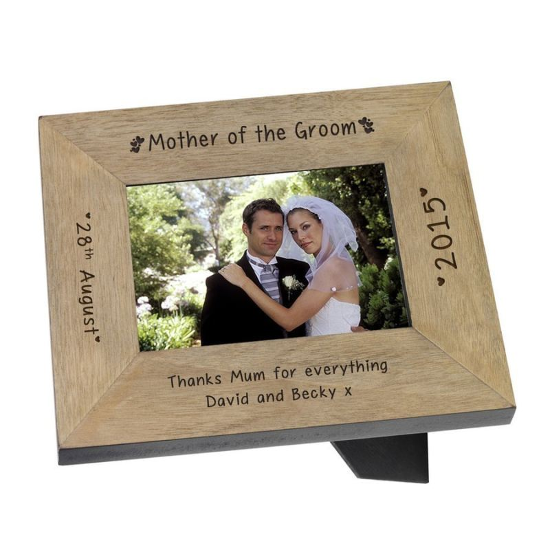 Mother of the Groom Wood Frame 6 x 4 - The Personalised Gift Shop