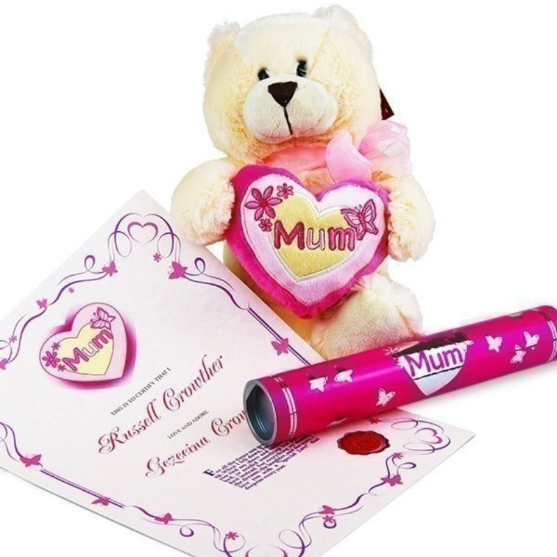 Mother's Day Bear with Personalised Certificate product image