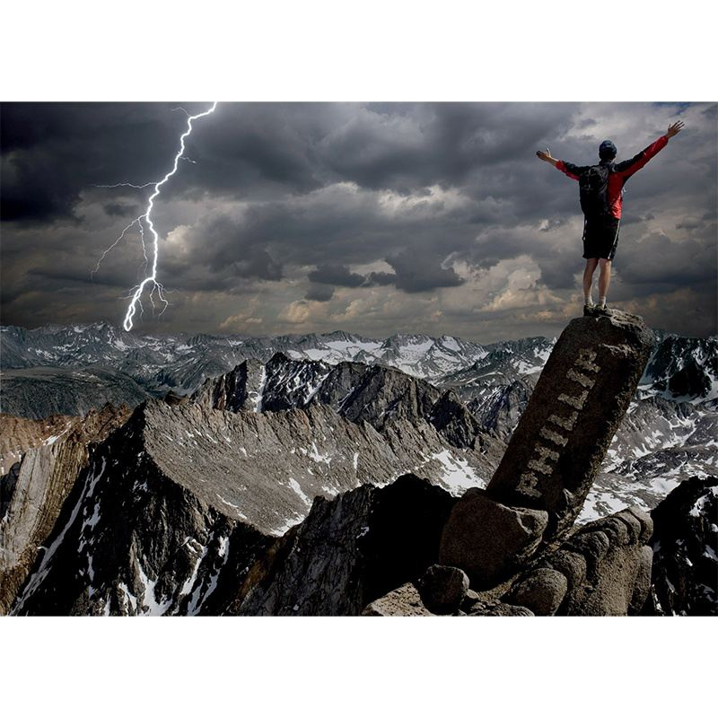 Mountain Climbing Personalised Poster product image