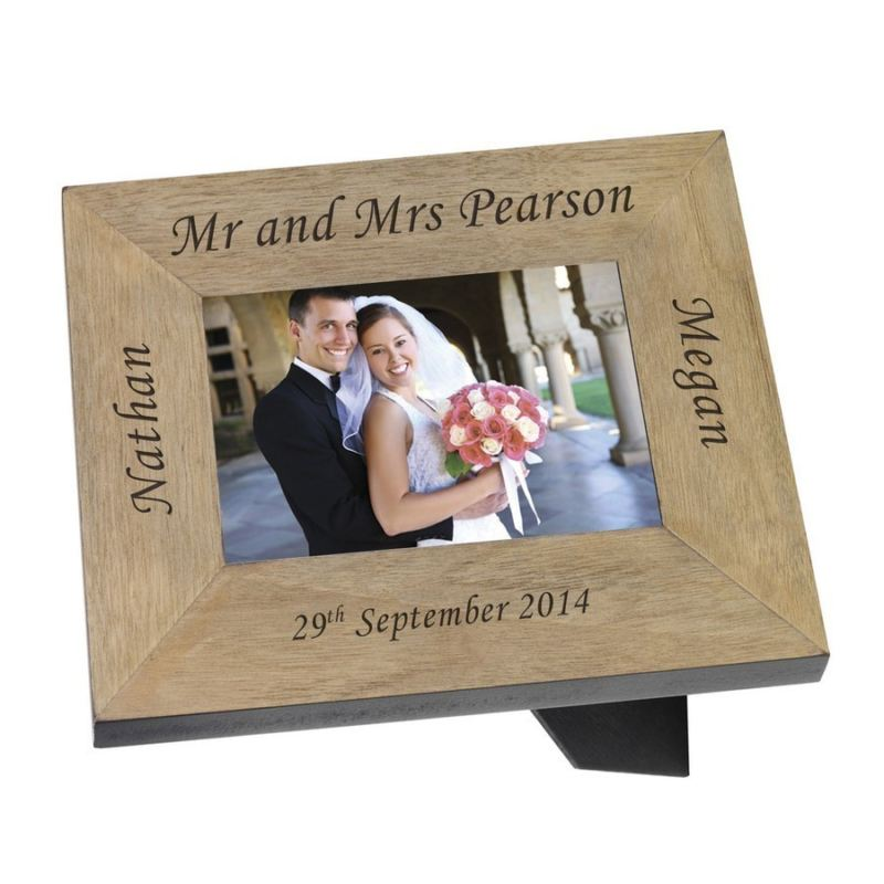 Mr & Mrs Wood Frame 6 x 4 product image