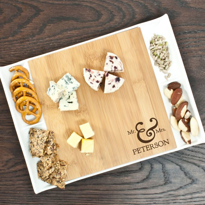 Mr & Mrs Bamboo and Ceramic Serving Platter product image