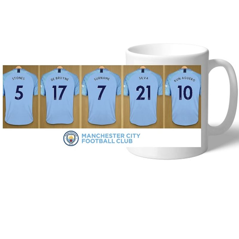 Personalised Manchester City Dressing Room Mug product image