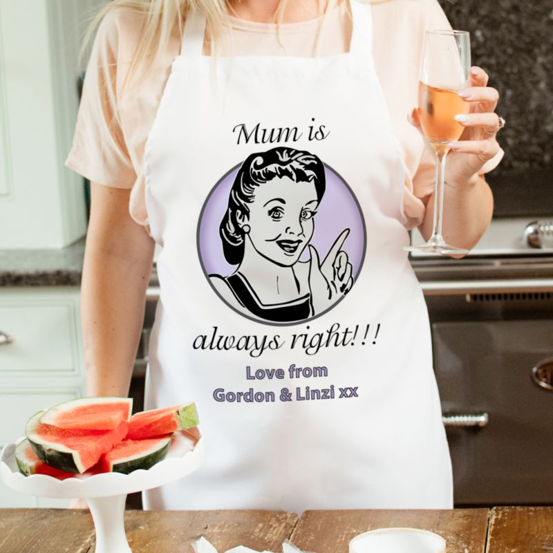 Mum Is Always Right Apron product image