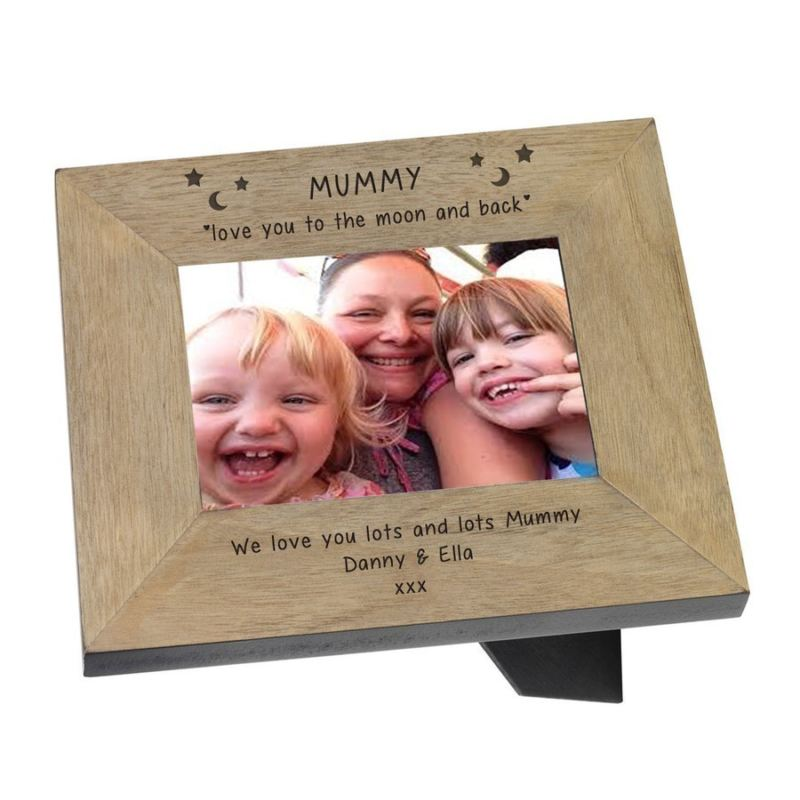 Mummy love you to the moon and back Wood Frame 6 x 4 product image