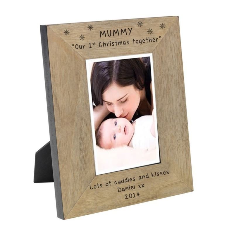 Mummy our 1st Christmas together Wood Frame 6 x 4 product image