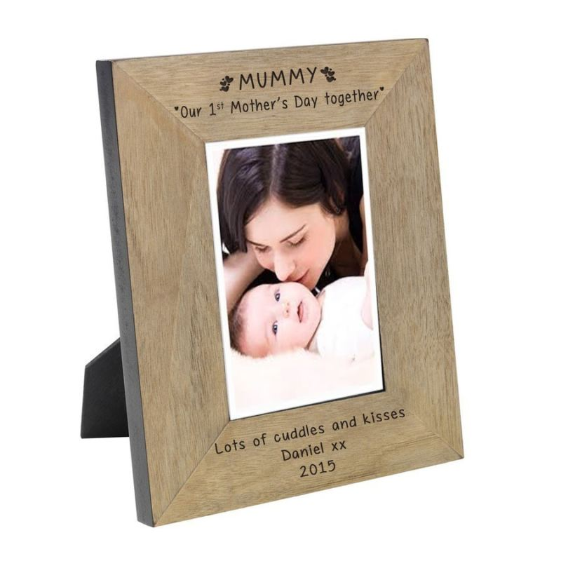 MUMMY Our 1st Mother's Day together Wood Frame 6 x 4 product image
