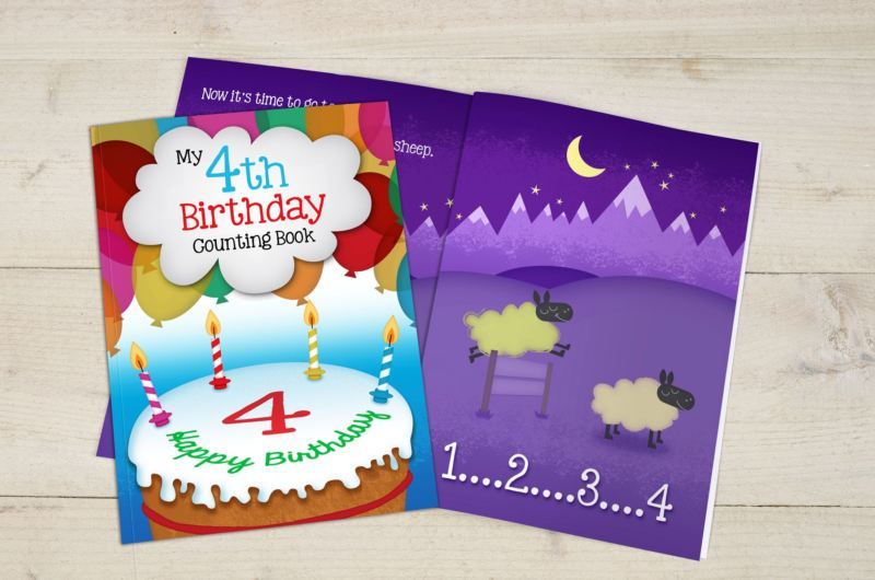 My 4th Birthday Counting Book - Hardback product image