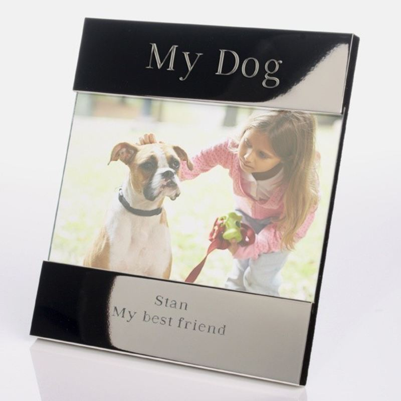 My Dog Shiny Silver Photo Frame product image