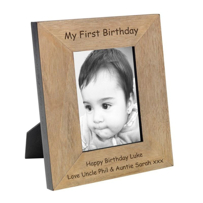 My First Birthday Wood Photo Frame 6 x 4 product image