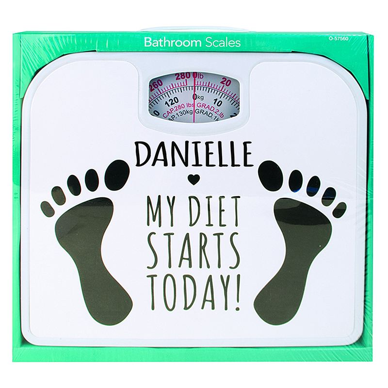 Personalised Diet Starts Today Bathroom Scales product image