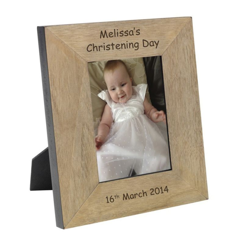 Name Christening Day Wood Frame 6 x 4 product image