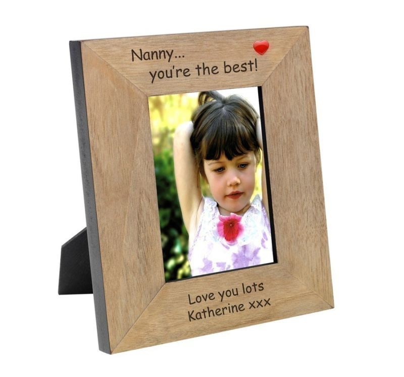 Nanny you're the best Wood Photo Frame 6 x 4 product image