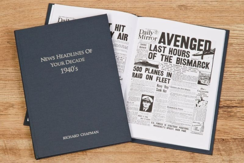 Newspaper 1940s Decade book - Hardback product image