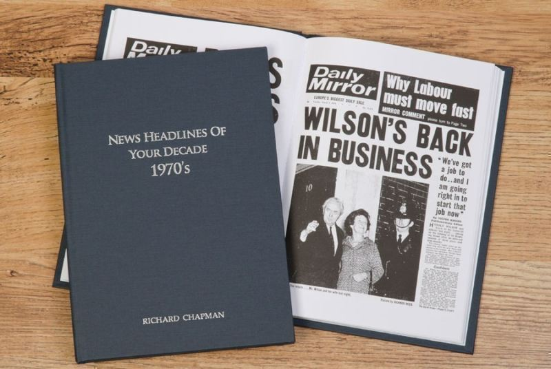 Newspaper 1970s Decade book - Hardback product image