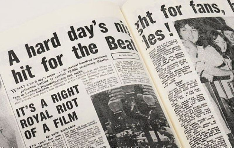 Newspaper Beatles Book -  Leatherette Cover product image