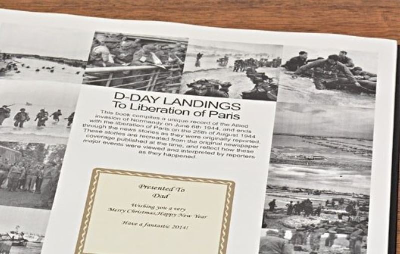 Newspaper D Day Landings Book - Leatherette Cover product image